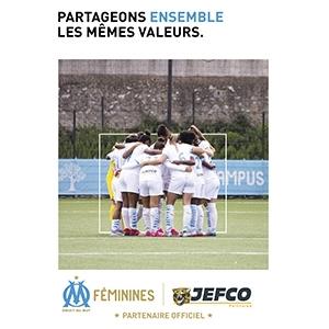 JEFCO sponsor de l'OM Féminines